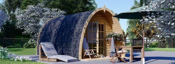 Garden Camping Pod BRETA (28 mm), 3x5 m (10'x16'), 15 m²