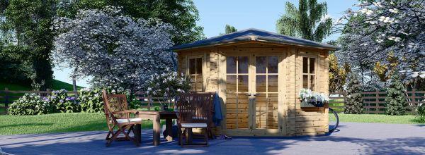 Garden Log Cabin AIDA (28 mm), 3x3 (10'x10'), 9 m²