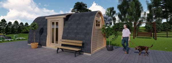 Insulated Camping Pod BRETA 2.4m x 6.6m (8x22 ft) 120-138 mm