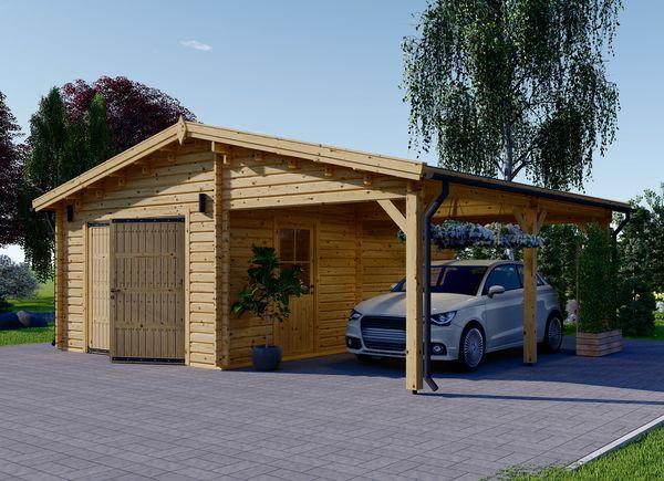 Wooden Garages Uk Timber Car Garage Kits For Sale