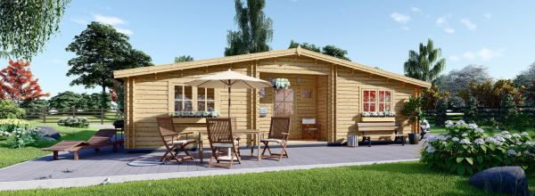 Insulated Residential Log Cabin FILL 10.5m x 6m (35x20 ft) Building Reg Friendly