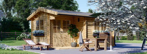 Log Cabin OSLO (44+44 mm + Insulation), 5x4 m (16'x13'), 20 m²