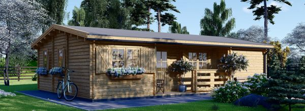 Residential Log Cabin UZES 10.2m x 7m (34x23 ft) 44 mm