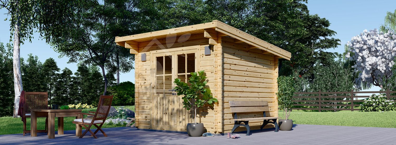 Garden Log Cabin MALTA 3m x 3m (10x10 ft) 34 mm visualization 1
