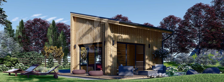 Log Cabin SOPHIA With Loft (44 mm + Cladding), 20 m² visualization 1