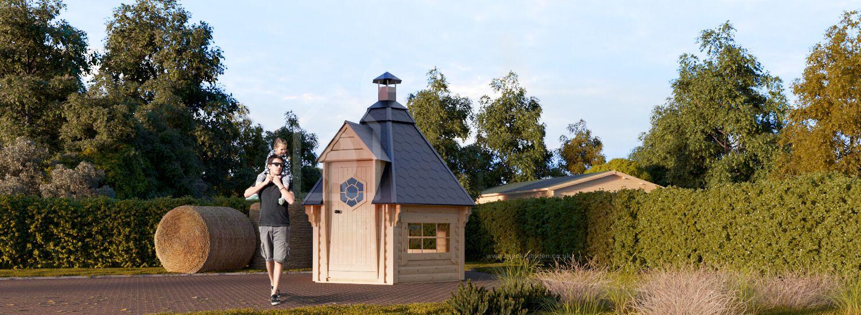 BBQ Hut 2.6m x 2.3m (9x7 ft) 44 mm 4.5 m² visualization 1