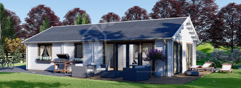 Log Cabin House ANICA (44+44 mm), 71 m² visualization 1