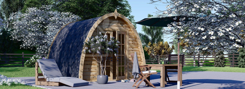 Garden Camping Pod BRETA (28 mm), 3x3 m (10'x10'), 9 m² visualization 1