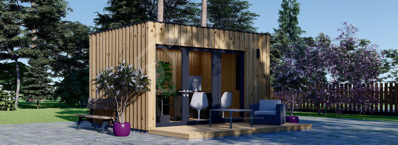 Garden Office PREMIUM (Insulated, SIPS), 4.1x2.4 m (14'x8') visualization 1