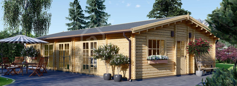 Log Cabin House JULIA (66 mm), 103 m² visualization 1