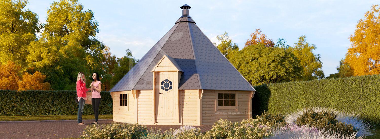 BBQ Hut KOTA 25 (44 mm) 5.5x5.5m (18'x18'), 25 m² visualization 1