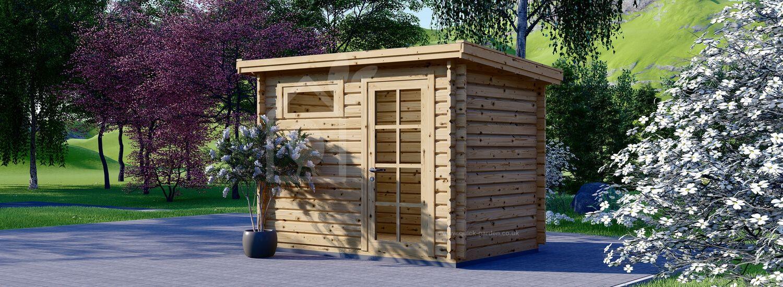 Garden Log Cabin MODERN (28 mm), 3x2 m (10'x7'), 6 m² visualization 1