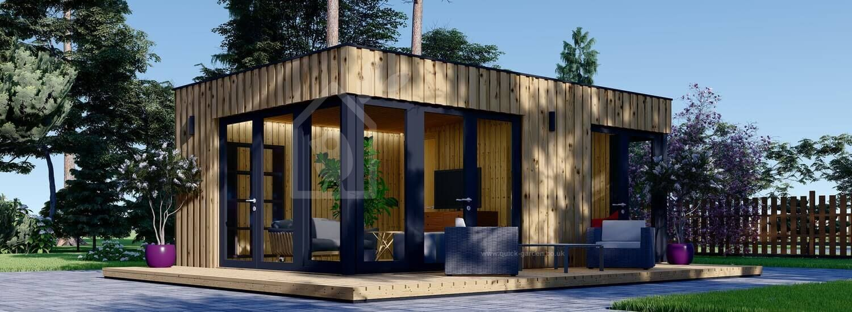 Garden Studio PREMIUM (Insulated, SIPS), 7.5x4 m (25'x13') visualization 1