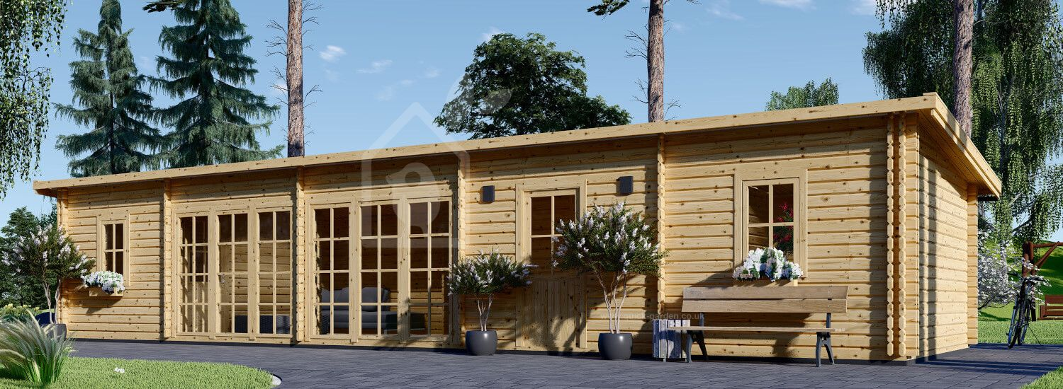 Log Cabin House BILLY (Insulated, 44+44 mm), 41 m² visualization 1