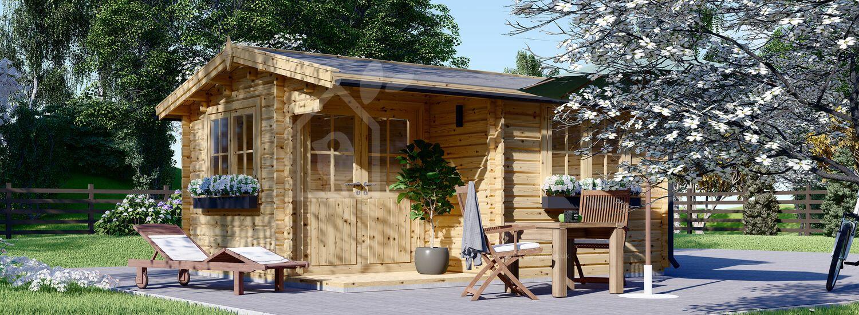 Log Cabin OSLO (44+44 mm + Insulation), 5x4 m (16'x13'), 20 m² visualization 1