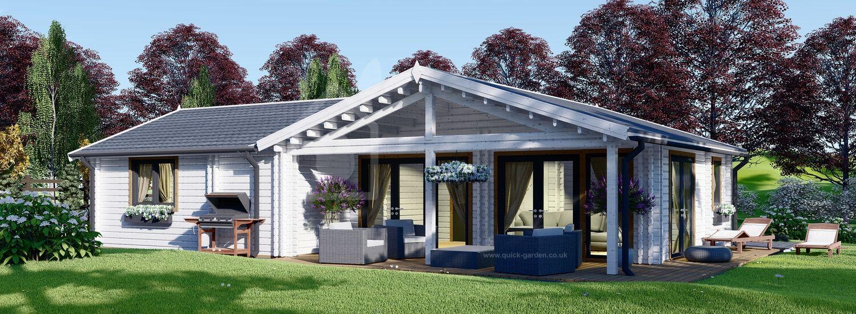 Log Cabin House ADELE (44+44 mm), 68 m² visualization 1