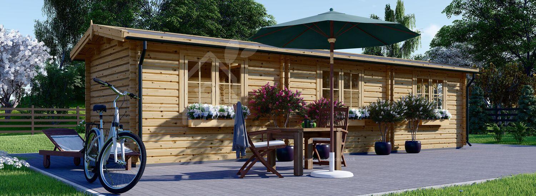 Garden Log Cabin STRONGHOLD (44 mm), 3x10 m (10'x33'), 30 m² visualization 1