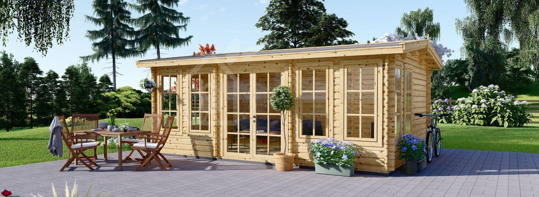 Garden Room DEVON (44 mm), 6x4 m (20'x13'), 24 m² visualization 1
