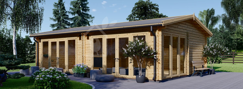 Garden Studio MARINA (44+44 mm + Insulation PLUS, BRF), 8x6 m (26'x20'), 48 m² visualization 1