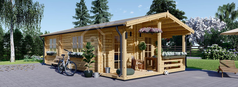 Granny Annexe ARGO M (44+44 mm + Insulation), 5x9 m (16'x29'), 35 m² visualization 1