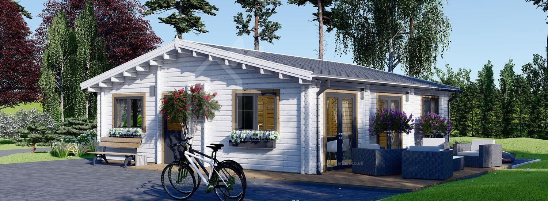 Log Cabin House ALICE (44+44 mm + Insulation), 72 m² visualization 1
