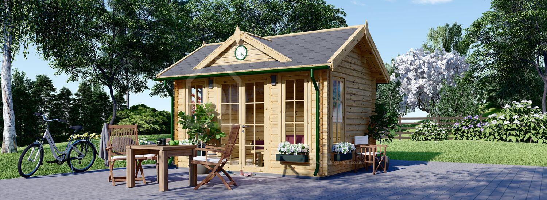 Summer House CLOCKHOUSE 4m x 3m (13x10 ft) 44 mm visualization 1