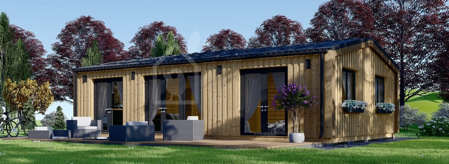 Granny Annexe SELENE M (Insulated, 44 mm + Cladding), 10.2x6.2 m (34'x20') visualization 1