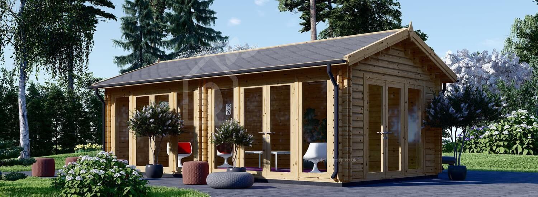 Insulated Garden Studio MARINA PLUS 8m x 4m (26x13 ft) Twin Skin visualization 1
