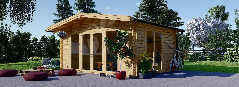 Insulated Garden Studio MARTA 5m x 4m (16x13 ft) Twin Skin visualization 1