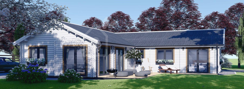 Log Cabin House PAULA (Insulated, 44+44 mm), 129 m² visualization 1