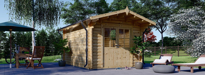 Garden Log Cabin PETER (34 mm), 3x4 m (10'x13'), 12 m² visualization 1