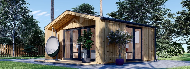 Garden Cabin PIA (Timber Frame) 5.2x4.9 m (17'x16'), 18 m² visualization 1