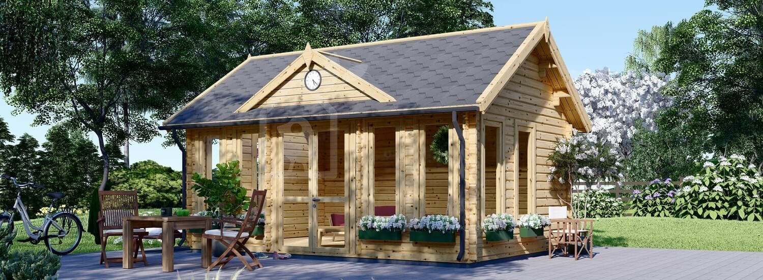 Insulated Garden Room CLOCKHOUSE 5.5m x 4m (18x13 ft) Twin Skin visualization 1