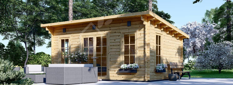 Garden Room ESSEX (44+44 mm + Insulation), 5x4 m (16'x13'), 20 m² visualization 1