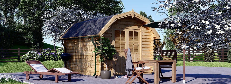 Garden Log Cabin ORLANDO 3m x 3m (10x10 ft) 34 mm visualization 1