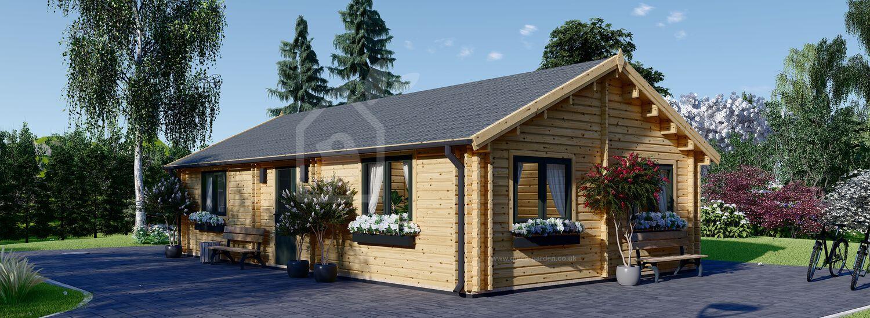 Log Cabin House GRETA (44+44 mm), 54 m² visualization 1