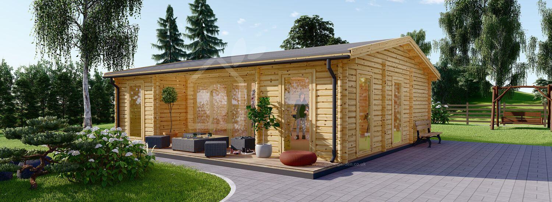 Insulated Garden Studio MILA 8m x 7m (26x23 ft) Twin Skin visualization 1