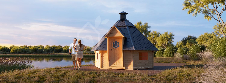 BBQ Hut KOTA 9 (44 mm), 3.8x3.3 m (12'x11'), 9.2 m² visualization 1