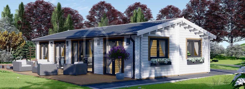 Log Cabin House AGNES (44+44 mm + Insulation), 75 m² visualization 1