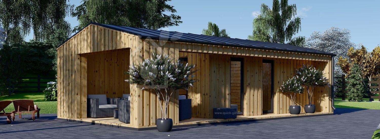 Garden Studio ANNA (insulated, 44 mm + cladding) 7.5m x 5m (25x16 ft) visualization 1