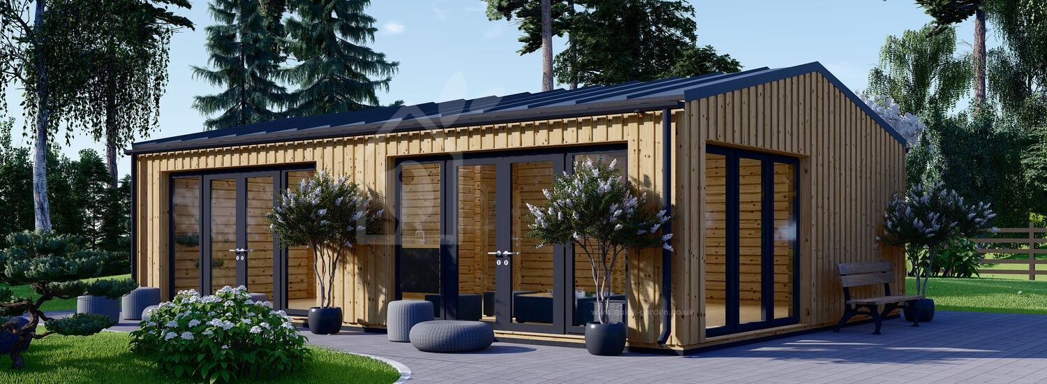 Garden Studio MARINA Modern (Insulated, 44 mm + Cladding, BRF), 8x6 m (26'x20'), 48 m² visualization 1