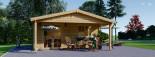 Insulated Log Cabin CAMILA 6m x 6m (20x20 ft) Twin Skin visualization 3