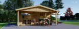 Log cabin CAMILA 6m x 6m (20x20 ft) 44 mm visualization 3