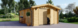 Single Wooden Garage 4m x 6m (13x20 ft) 44 mm visualization 2