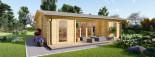 Insulated Garden Studio MILA 8m x 7m (26x23 ft) Twin Skin visualization 7