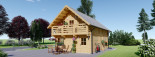 Log Cabin House LANGON 6m x 8.7m (20x29 ft) 66 mm visualization 7