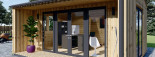 Insulated Garden Office TINA 4m x 4m (13x13 ft) Twin Skin visualization 8