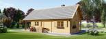 Log Cabin House AURA 6m x 12m (20x40 ft) 66 mm visualization 6
