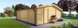 Insulated Garden Studio MILA 8m x 7m (26x23 ft) Twin Skin visualization 5