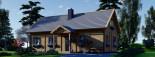 Log Cabin House VERA 11.9m x 9.7m (39x32 ft) 66 mm visualization 6